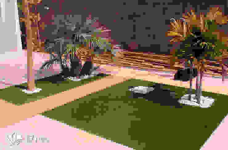 14 detalles para un jardín desde el interior Jardines de estilo moderno de Jardineria 7 islas Moderno