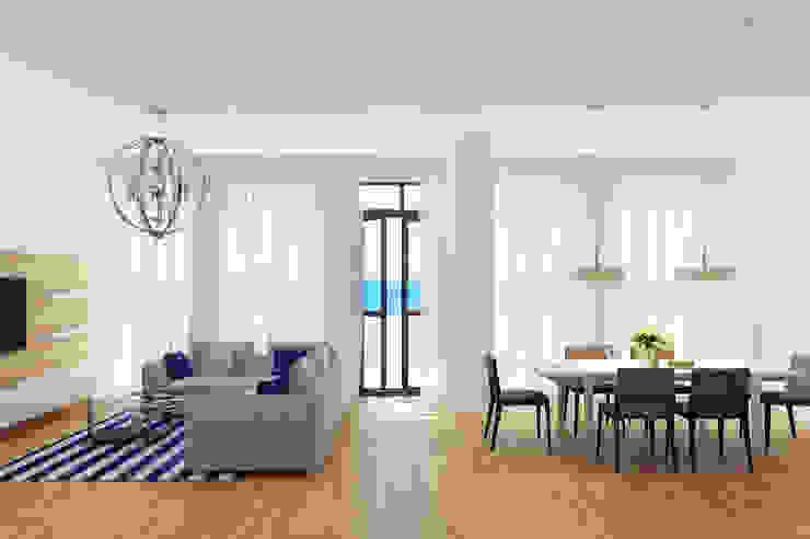 Апартаменты на берегу Черного моря Гостиная в средиземноморском стиле от Оксана Мухина Средиземноморский