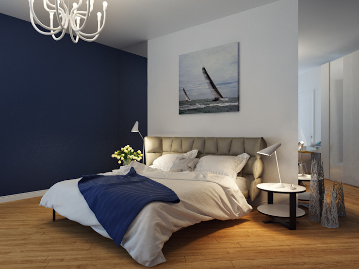 Оксана Мухина Mediterranean style bedroom