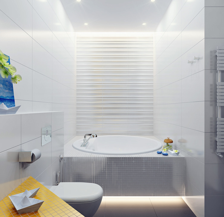 Апартаменты на берегу Черного моря Ванная в средиземноморском стиле от Оксана Мухина Средиземноморский