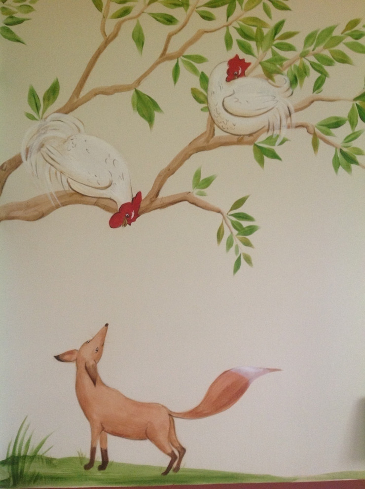 Handmade Wallpaper- Aesops Fables Chambre classique par Eades Bespoke Classique