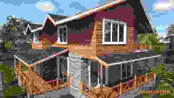 PORTAKAL MİMARLIK MÜHENDİSLİK İNŞAAT RÖLÖVE VE RESTORASYON – Abant Villa Projesi:  tarz Evler,