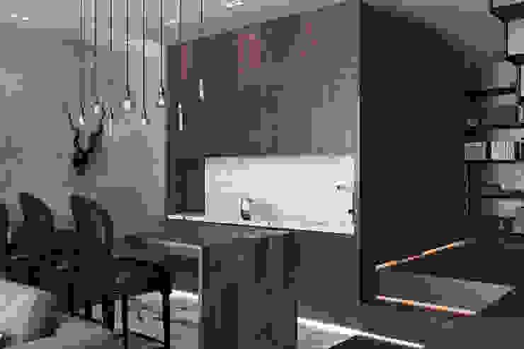 Лофт-Апартаменты в ж.к. TriBeCa Кухня в стиле лофт от Oh, Boy! Интерьеры с мужским характером Лофт