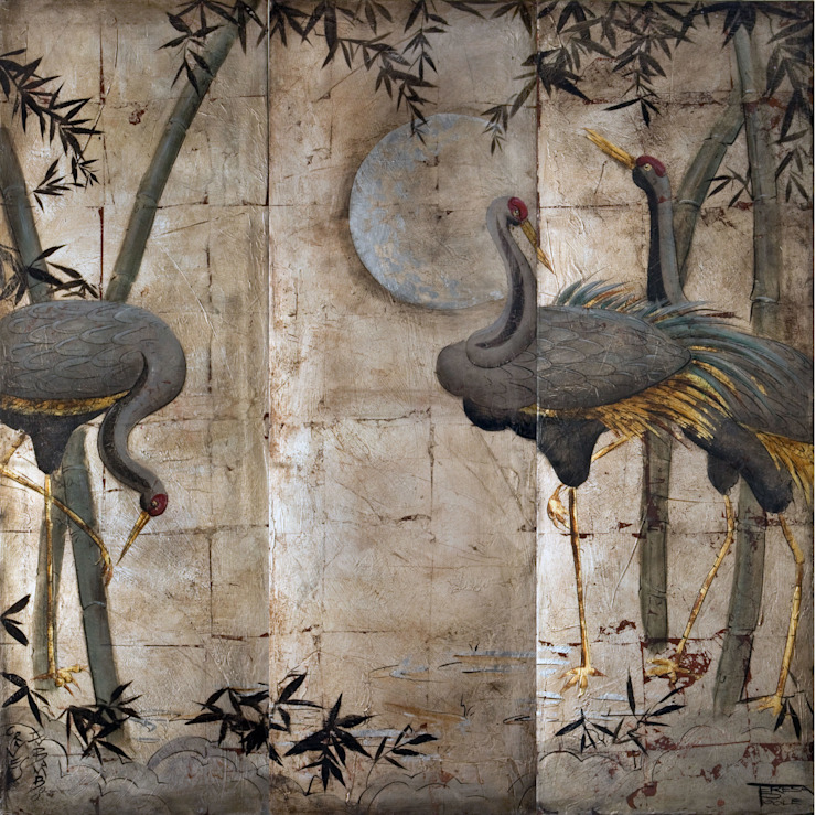 Artwork Inspiration for our Handpainted panels par Eades Bespoke Asiatique