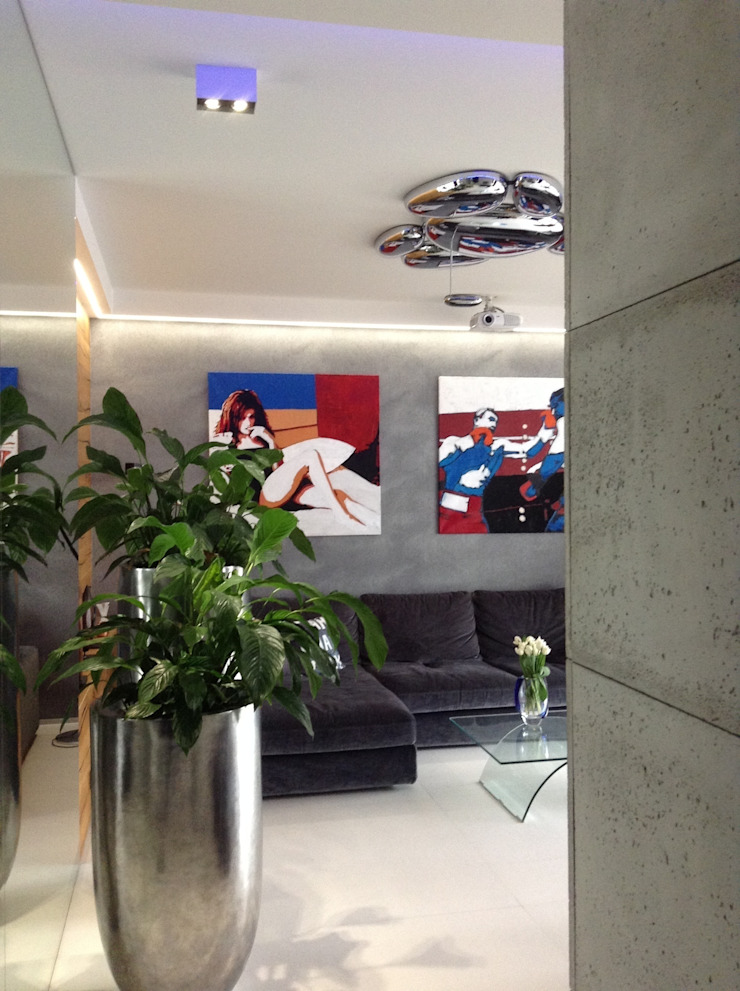 ART. – SPORT – RELAX Warszawa – mieszkanie 90 m2 Nowoczesny salon od TG STUDIO Nowoczesny