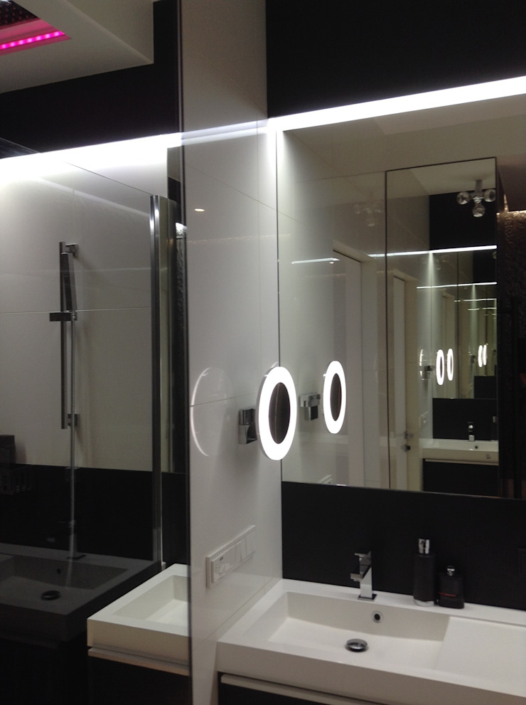 ART. – SPORT – RELAX Warszawa – mieszkanie 90 m2 Nowoczesna łazienka od TG STUDIO Nowoczesny