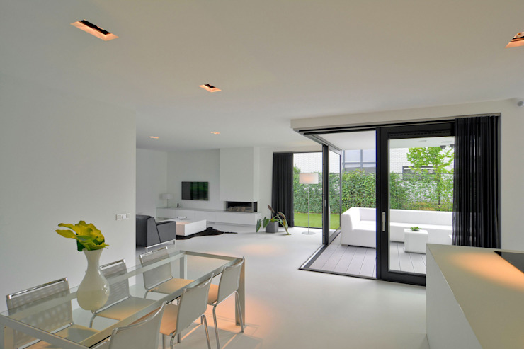 CKX architecten Modern living room