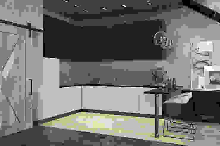 TriBeCa Лофт-Апартаменты в Москве Кухня в стиле лофт от Oh, Boy! Интерьеры с мужским характером Лофт