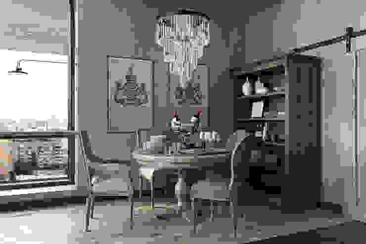 TriBeCa Лофт-Апартаменты в Москве Столовая комната в стиле лофт от Oh, Boy! Интерьеры с мужским характером Лофт
