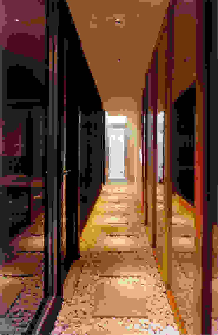 地階の内路地 モダンスタイルの 玄関&廊下&階段 の 豊田空間デザイン室 一級建築士事務所 モダン