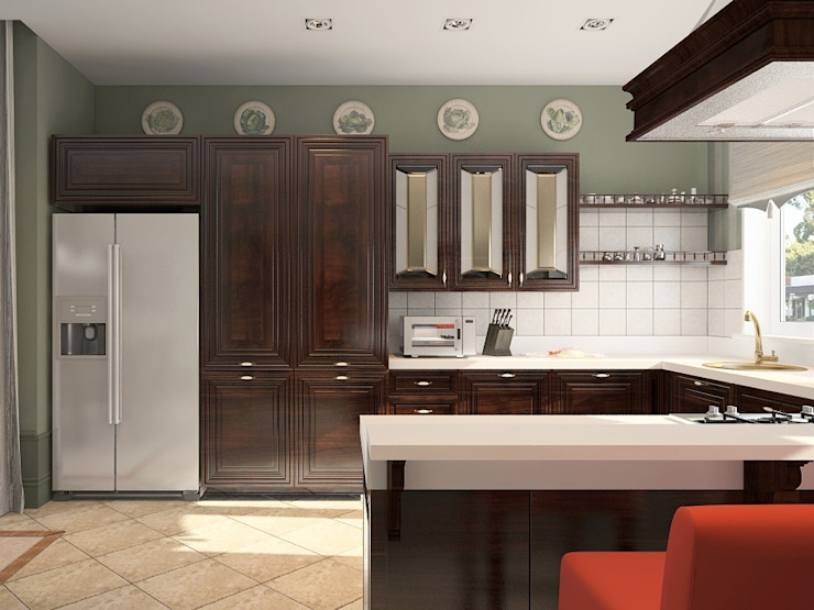 Кухня-столовая Кухня в стиле кантри от Олег Елфимычев Кантри