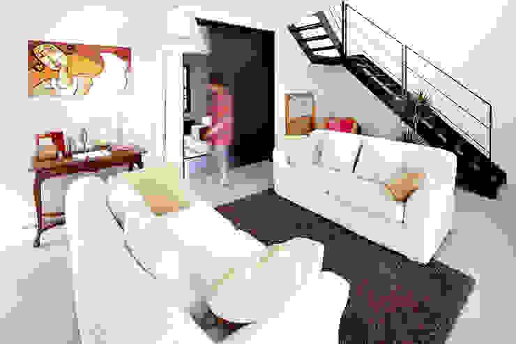 Ruang Keluarga Modern Oleh Cendrine Deville Jacquot, Architecte DPLG, A²B2D Modern