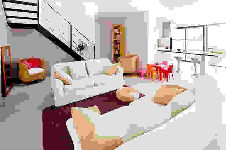 Modern Living Room by Cendrine Deville Jacquot, Architecte DPLG, A²B2D Modern