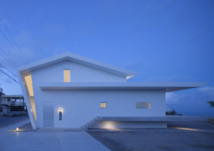 外観夜景 モダンな 家 の 森裕建築設計事務所 / Mori Architect Office モダン