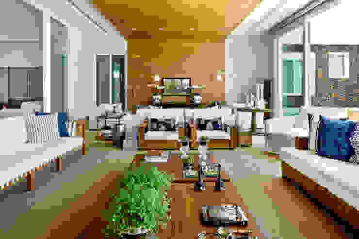 Livings de estilo moderno de Ana Paula e Sanderson Arquitetura Moderno