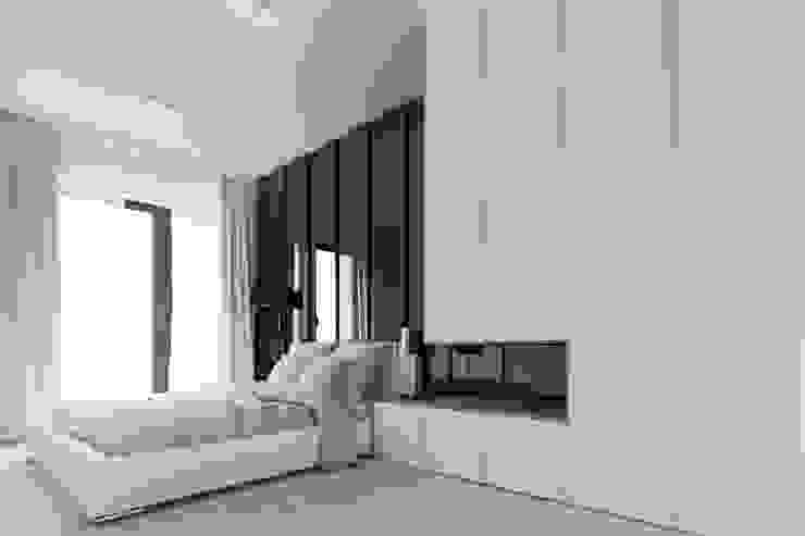 Warszawa Wilanów – mieszkanie 85 m kw. Nowoczesna sypialnia od Casa Marvell Nowoczesny