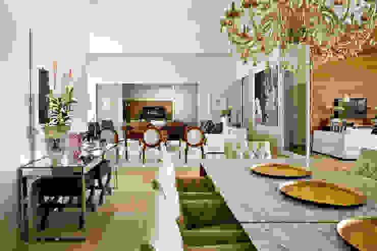 Casa Térrea Salas de jantar modernas por Ana Paula e Sanderson Arquitetura Moderno