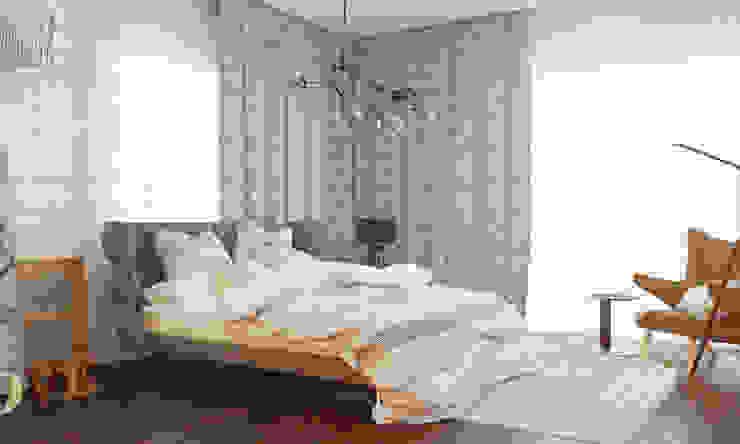 Спальня с умными технологиями Спальня в скандинавском стиле от Tatiana Shishkina Скандинавский