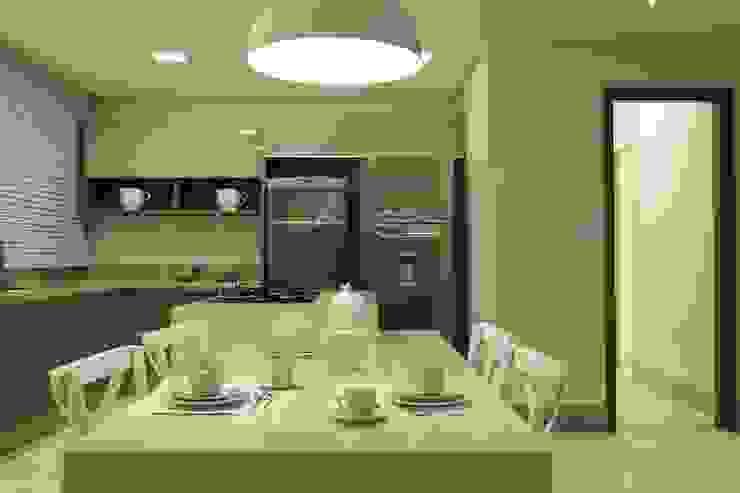 Apartamento Flamboyant Cozinhas modernas por Ana Paula e Sanderson Arquitetura Moderno