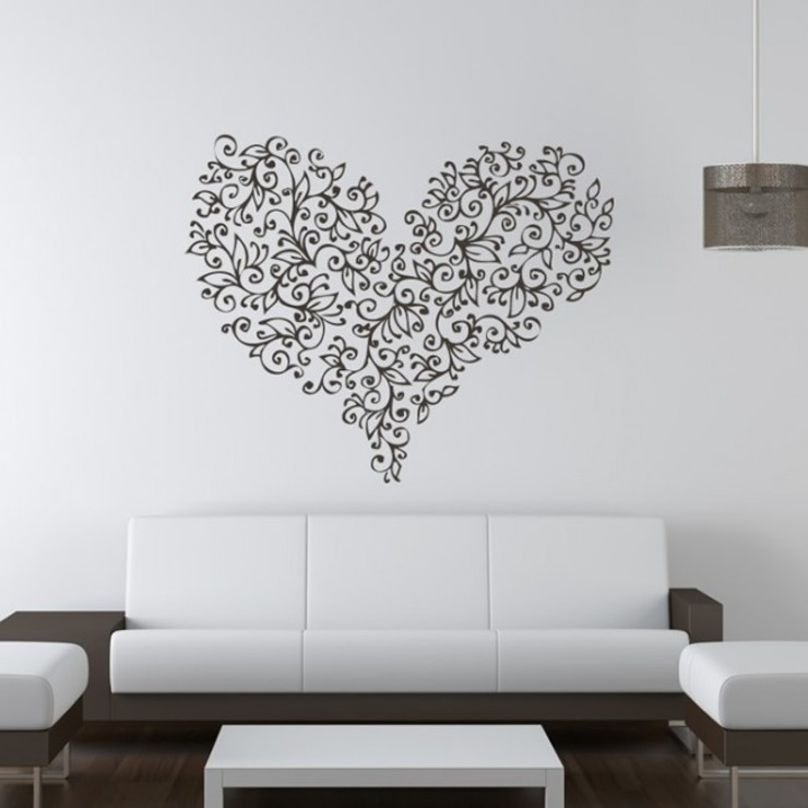 Love Hearts od Icon Wall Stickers Nowoczesny