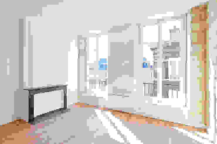 RÉHABILITATION LOGEMENTS COLLECTIFS Salon moderne par Cendrine Deville Jacquot, Architecte DPLG, A²B2D Moderne