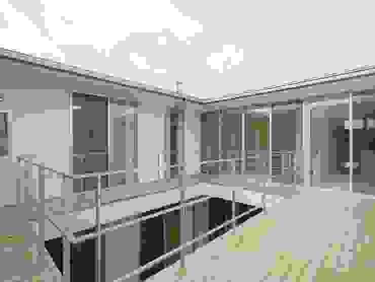 Varandas, alpendres e terraços modernos por 開建築設計事務所 Moderno