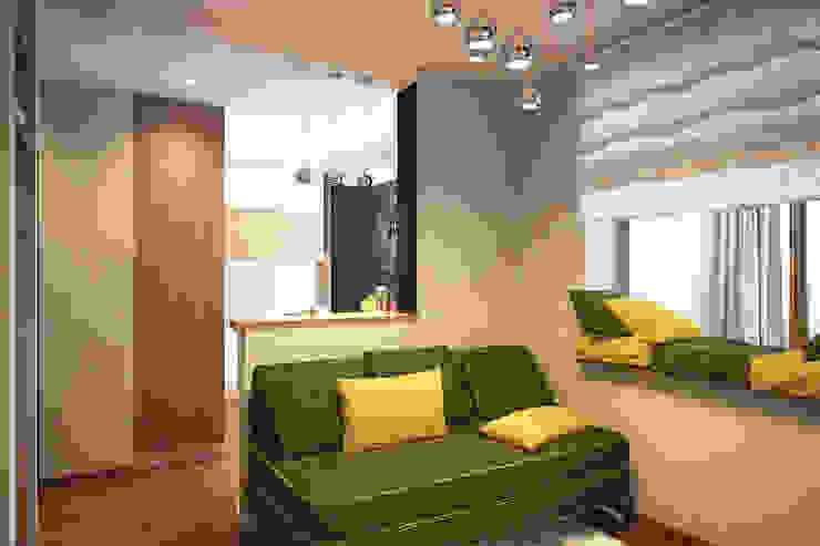 Дизайн-проект квартиры в стиле лофт. Гостиная в стиле лофт от Александра Петропавловская Лофт
