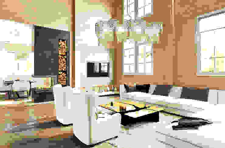 Николо-Прозорово, 365 м² Гостиные в эклектичном стиле от Bronx Эклектичный Дерево Эффект древесины