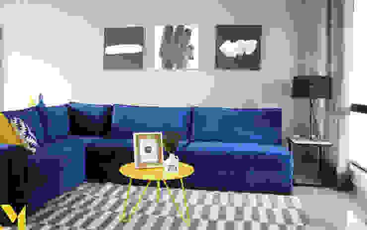 Casa Fioré Salones de estilo moderno de MM estudio interior Moderno