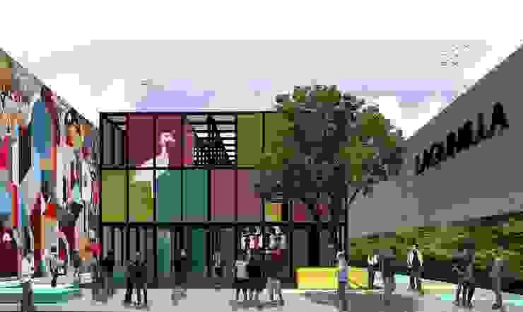 Intervención urbana de la plaza del Metro Lagunilla de City Ink Design Moderno