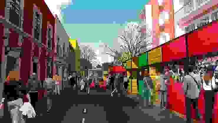 Reorganización del comercio informal de City Ink Design Moderno