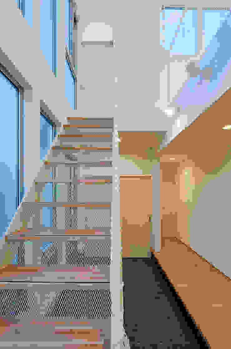 町田の家 モダンスタイルの 玄関&廊下&階段 の 萩原健治建築研究所 モダン