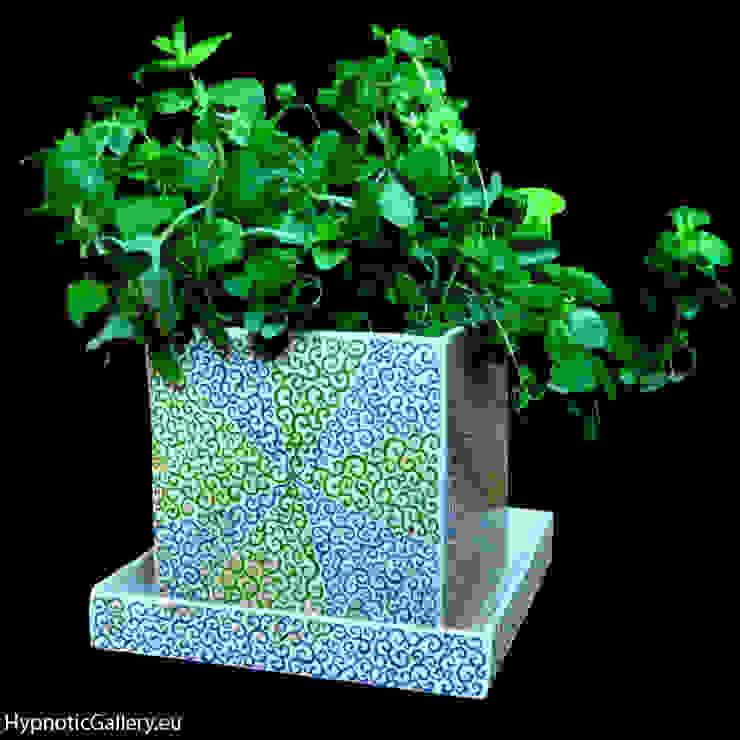 Cube flower pot homify HogarPlantas y accesorios Cerámica Azul