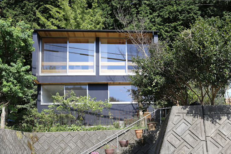 M邸ー大きな窓の家 ミニマルな 家 の C-design吉内建築アトリエ ミニマル