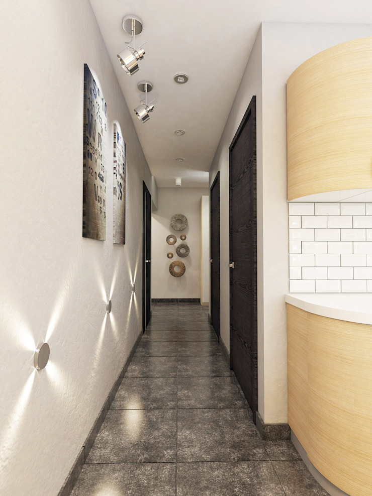 Minimalist corridor, hallway & stairs by Александра Петропавловская Minimalist