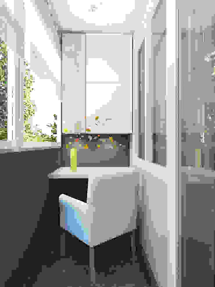 Мелодия осени. Балкон и терраса в стиле минимализм от Александра Петропавловская Минимализм