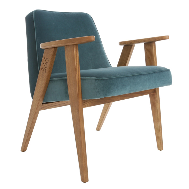 366 Chair - Velvet Collection, Colour: Ocean od 366 Concept Design & Lifestyle Skandynawski