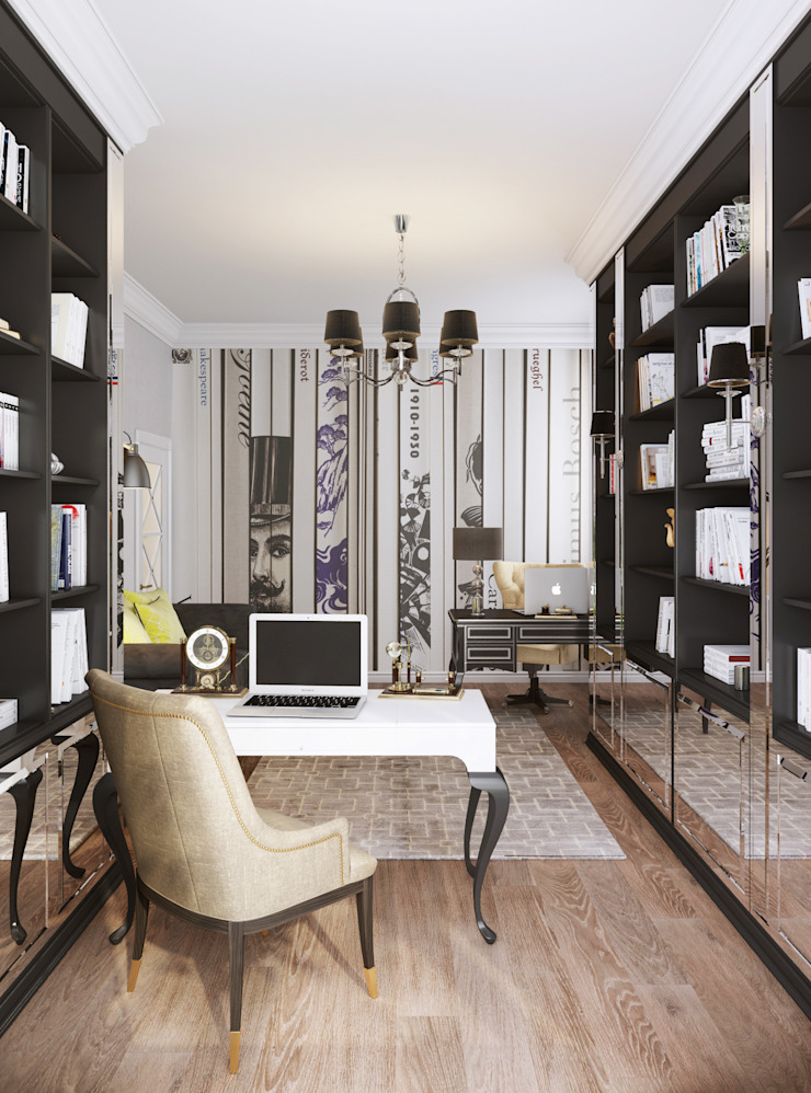 Eclectic style study/office by Bronx Eclectic