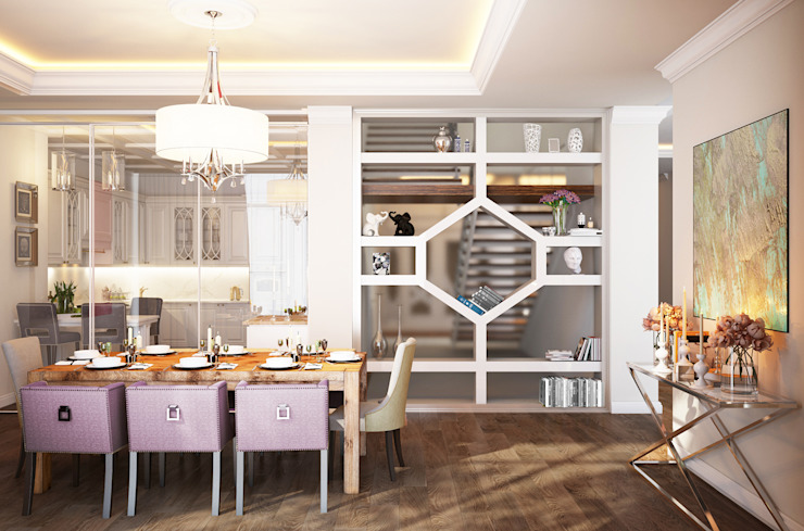 Eclectic style dining room by Bronx Eclectic