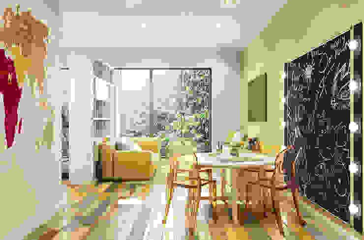 Дом Millennium-park, 420 м² Гостиные в эклектичном стиле от Bronx Эклектичный