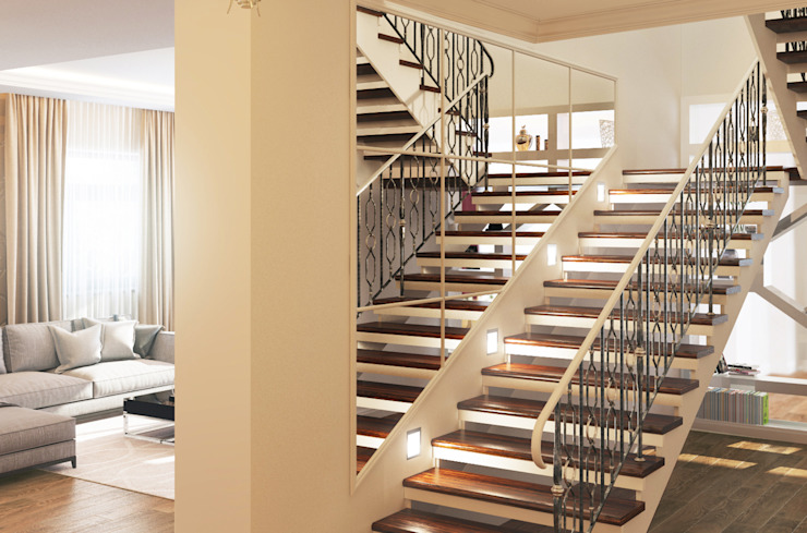 Eclectic corridor, hallway & stairs by Bronx Eclectic