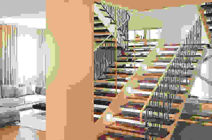 Дом Millennium-park, 420 м² Коридор, прихожая и лестница в эклектичном стиле от Bronx Эклектичный
