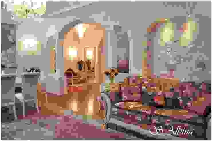 Дизайн проект квартиры по улице Гастелло (2010-2011г) Гостиная в классическом стиле от студия авторского дизайна Альбины Сибагатулиной Классический