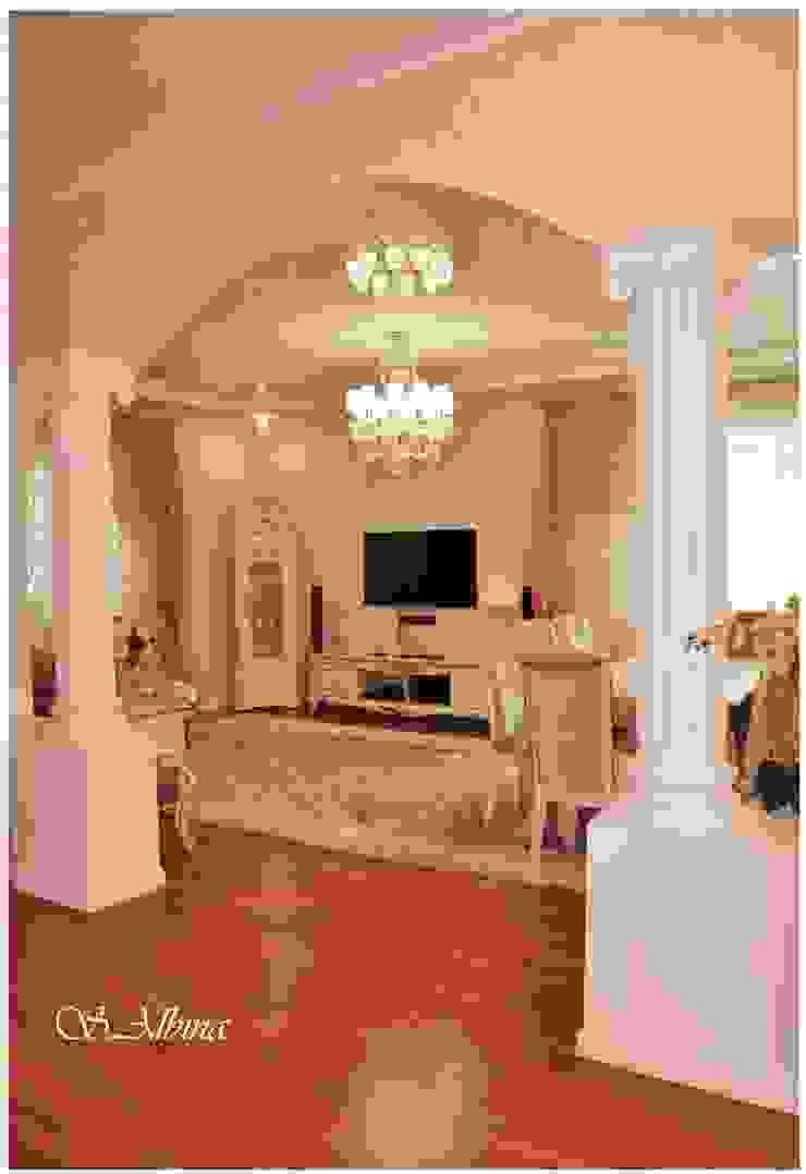Дизайн проект квартиры по улице Гастелло (2010-2011г) Коридор, прихожая и лестница в классическом стиле от студия авторского дизайна Альбины Сибагатулиной Классический