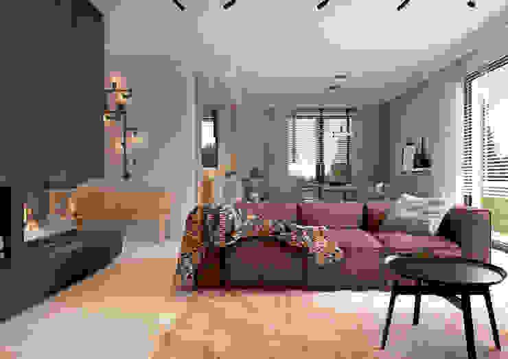 Salas / recibidores de estilo  por COI Pracownia Architektury Wnętrz, Industrial