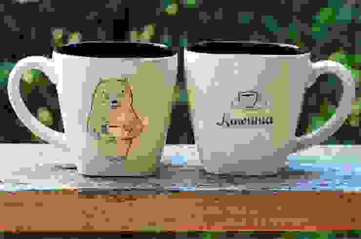 kubek kawunia: styl , w kategorii  zaprojektowany przez Cynamon Studio,Nowoczesny