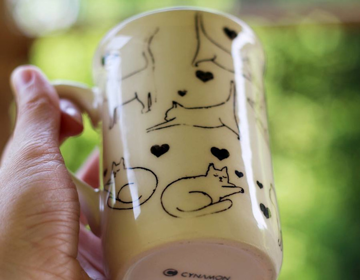 kubek koty od Cynamon Studio Nowoczesny