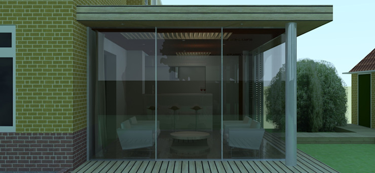Tuinkamer te Arnhem: modern  door Roorda Architectural Studio, Modern
