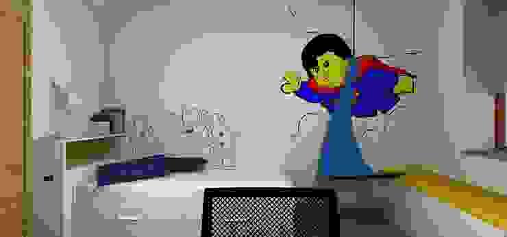 Dom pod Wrocławiem: styl , w kategorii Pokój dziecięcy zaprojektowany przez Kraupe Studio,Minimalistyczny