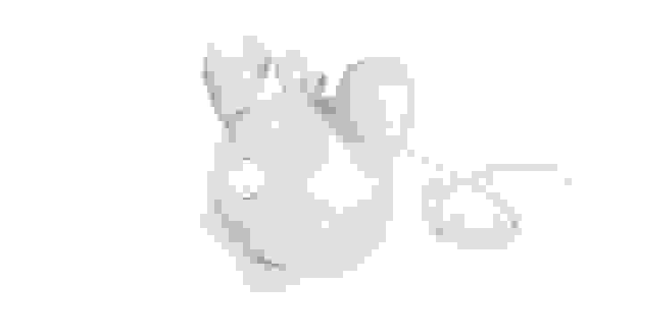 Frootie Coconut - ceramiczna lampa halogenowa. od Diploo Studio Nowoczesny